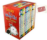 Diary of a Wimpy Kid Jeff Kinney Collection of 12 Set of Hilarious Best Books
