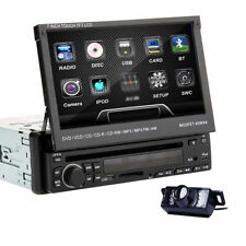 "7"" 1Din Car DVD CD Player Stereo Radio SD/USB RDS IR Bluetooth iPod+Camera"