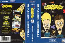 Beavis And Butt-Head Sega Megadrive Replacement Art Insert For Box
