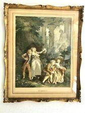 Antique Gravure Signed Fragonard Le Serment La Declaration Bervick Framed Lot