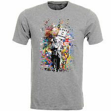 Love Is The Answer Albert Einstein Banksy Art Mens T-Shirt Top AB75