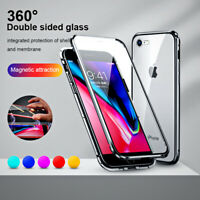 Magnetico Cover per iPhone SE 2 XR XS Max 6 7 8 Plus Custodia in vetro temperato