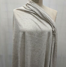 100% Linen Stripe Sustainable Eco Friendly  Knit Fabric BTY Natural/Cream