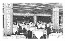 RPPC Old Faithful Inn Dining Room Interior Yellowstone, WY ca 1950s Postcard