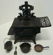 Vintage Cast Iron American ATF Wood Stove-Salesman Sample With Accessories-G22