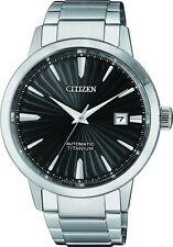 Citizen Mens Automatic Titanium Sapphire Watch NJ2180-89H. CLASSIC LOOK