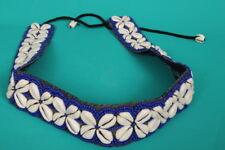 "Azul Colorido Con Cuentas COWRIE SHELL Cinturón de 31"" +12"" lazos. Festival de Verano de Moda/"