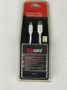 RadioShack GigaWare 4-Pin to 6-Pin 6-Foot FireWire Cable No. 1500006