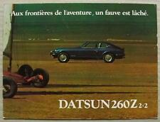DATSUN 260Z 2+2 Car Sales Brochure 1974 #C26-9-74-20 FRENCH TEXT
