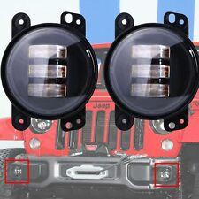 """2P 30W 4"""" CREE LED Fog Light Lamp Projector Len for Jeep Wrangler Dodge Chrysler"""