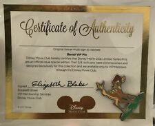 New ListingBambi with Butterfly Disney Movie Club Vip Exclusive Pin Coa New - Sealed