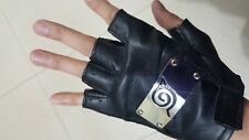 Naruto Cosplay Leaf Village Half Finger Gloves Anime