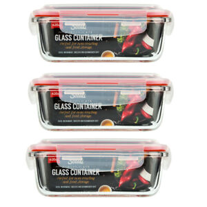 Glass Food Storage Containers with Lids Airtight Borosilicate Rectangle