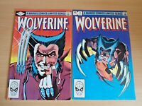 Wolverine #1 Sept & #2 Oct A Marvel Comics Limited Series Comic Books 1982 RARE