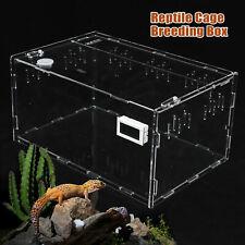 Acrylic Reptile Cage Breeding Box Tarantula Insect Lizard Clear Pet Tank Th-Calc