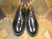 ROYAL TWEED  BLACK PLAIN TOE BLUCHER SIZE 9 C MADE IN ENGLAND
