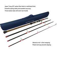 Aventik Escape 24T Carbon Travel Surf Spinning Rod 4 Pieces 9FT 15-30Ib, 1-5oz