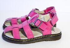 Dr. Martens Sailor Hot Pink Patent Junior Fisherman Sandals Size 1 Girls