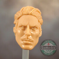 "ML223 Custom Sculpt Cast Tony Stark head use w/6"" Marvel Legends"