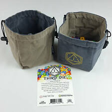 Third Die Dice Bags - Handmade, Reversible, Free Standing Closes Tight - Gray