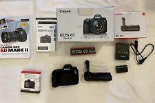 Canon EOS 6D Mark II Body with BG-E21 Battery Grip, 4,239 shutter count, extras
