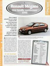 FICHE TECHNIQUE VOITURE RENAULT MEGANE 1995