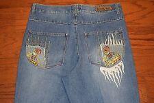 MISKEEN ORIGINALS - Loose Fit Tapered Leg Blue Jeans - Men Size 36 x 32 - MINT!