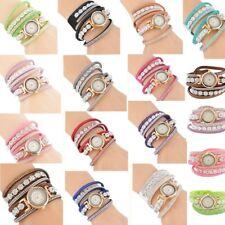 Mode Damen Uhr Armbanduhr Uhr Quarzuhr Wickelarmband Analog mit Strass Geschenk