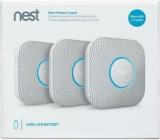 Nest Protect 2nd Gen Smoke and Carbon Monoxide Alarm WIRELESS Battery 3 Pack Set