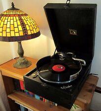 Nice Original 1930's HMV 97B Portable 'Picnic' Gramophone With Record Tray