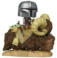 FUNKO POP! DELUXE: Star Wars: The Mandalorian and The Child on Bantha MINT