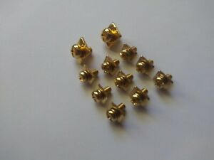 REAL GOLD PLATED AMPLIFIER / AMP POWER AND SPEAKER TERMINAL SCREW SET 11PCS
