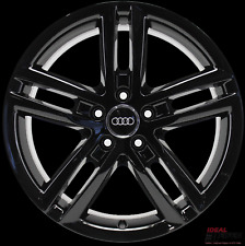 4 Original Audi Tt TTS 8J Alloy Wheels 8J0601025CF 9x18 ET52 Rims Black Shine