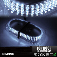 2017 White 240 LED Light Bar Roof Top Emergency Beacon Warning Flash Strobe New