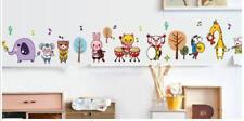 Wandtattoo Wandsticker Wandaufkleber Musik Tiere Kinderzimmer bunt 40 x 195 W164