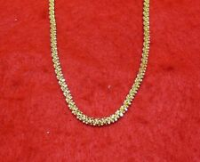 "20""  14KT GOLD EP 3MM SPIRAL ROPE PROPELLER CHAIN DESIGNER NECKLACE"