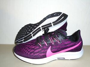 New Nike Womens Pegasus 36 Black True Berry Running Shoes sz 9 CLEARANCE