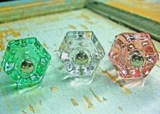 SHABBY & CHIC PINK, CLEAR, GREEN GLASS KNOBS  * WHOLESALE & FURNITURE APPLIQUES