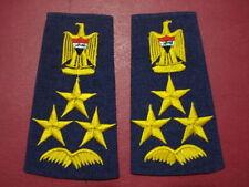 IRAQI AIR FORCE (BRIGADIER GENERAL) UNIFORM SOFT SHOULDER BOARDS RANKS .