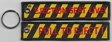RAF Royal Air Force Pull To Eject Ejection Seat Embroidered Key Ring / Pull Cord