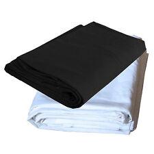 Set 2x Fond Tissu pour Studio DynaSun W601 Blanc + W602 Noir 3x6 mt Pur Coton