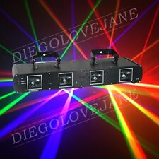 760mW Green+Red+Yellow+Blue 4 Lens Stage Disco DJ DMX Laser beam Light Show