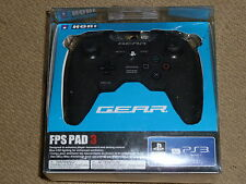 SONY PLAYSTATION PS3 HORI GEAR FPS PAD 3 USB CONTROLLER Black Gamepad Official