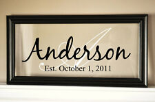 Personalized Family Name Picture Frame Sign Plaque 8x18