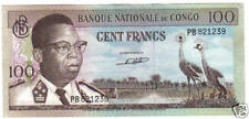 CONGO 100 FRANCS 1964 PICK 6 A UNC-