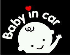 """Baby Boy In Car"" Waving Baby on Board Vinyl Decal"