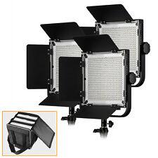 US Pergear 3Pcs Lights Kit 576 LED Video Panel Light For Photography DSLR + Bag