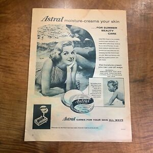 VINTAGE 1950's 'ASTRAL' SKIN CREAM BABY BEAUTY HEALTH MAGAZINE ADVERTISEMENT