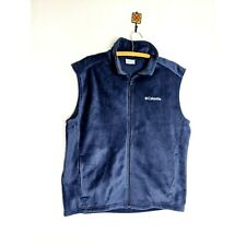 Columbia Fleece Vest Navy Blue Men's Size Large New Without Tags