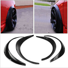 Stock 4 PCS Car Black Polyurethane Flexible Exterior Fender Flares US Shipping